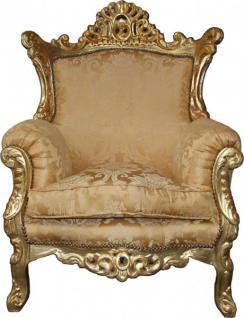 "Casa Padrino Barock Sessel "" Al Capone"" Mod2 Gold Muster / Gold Möbel- Antik Stil"