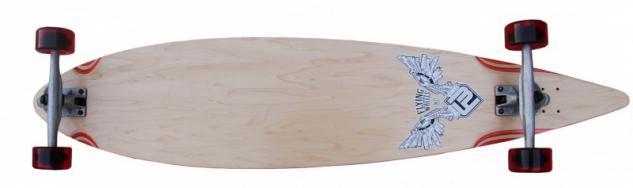 Flying Wheels Longboard Pintail Komplettboard 113 x 25 cm Cruiser Carver - Special Edition mit Koston Kugellagern
