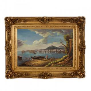 Handgemaltes Barock Öl Gemälde Landschaft Nr 6 Gold Prunk Rahmen 130 x 100 x 10 cm - Massives Material