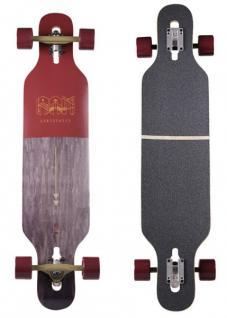 RAM Drop Through Longboard Komplettboard Ciemah Rosewood - Special Edition mit Koston Kugellagern