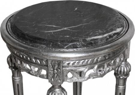 Barock beistelltisch rund silber mody 13 73 x 38 cm antik - Beistelltisch silber rund ...