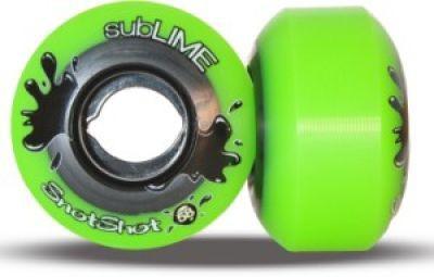 subLIME Longboard Rollen Set Snot Shots 99A 58mm Wheel Set Wheels Skateboard