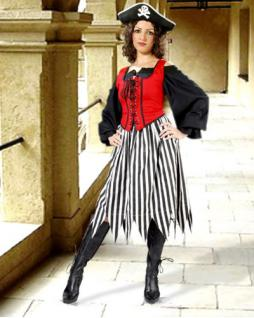 Alvilda Piraten Rock - Black - White