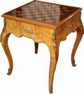 Casa Padrino Art Deco Spieltisch Schach / Backgammon Tisch Mahagoni L 60 x B 60 x H 71 cm - Möbel Antik Stil Barock