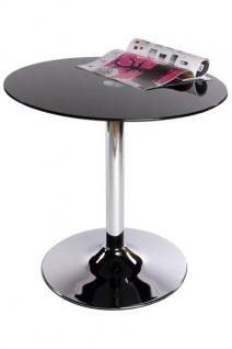 Designer Beistell Tisch aus dem Hause Casa Padrino Höhe 68 cm, Tisch Durchmesser 70 cm Schwarz - Cafe Messe Hotel Praxis Kanzlei Einrichtung Beistelltisch