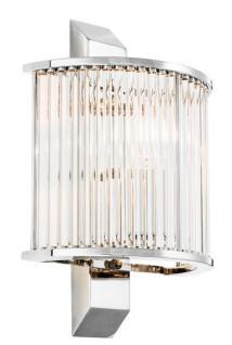 Casa Padrino Luxus Wandleuchte Silber 20, 5 x 12 x H. 30 cm - Designer Wandlampe