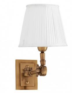 Casa Padrino Luxus 1er Wandleuchte Weiss / Antik Stil Messing - Leuchte - Luxury Collection