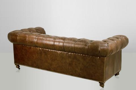 chesterfield luxus echt leder sofa 2 5 seater vintage leder von casa padrino cigar kaufen bei. Black Bedroom Furniture Sets. Home Design Ideas