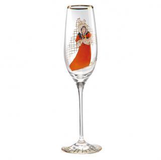 """Champagnerglas mit einem Motiv von T. Lautrec """" May Belfort"""", 0, 19 Ltr. - feinste Qualität aus der Tettau Porzellanfabrik - wunderschönes Sektglas"""