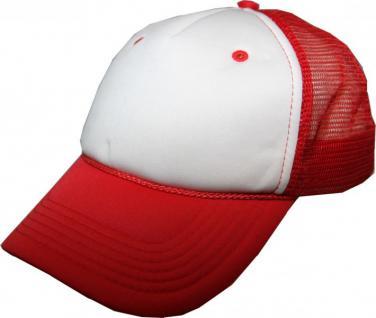 Mesh Trucker Cap Red/White - Skateboard BMX Surf Cap