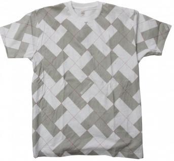 DC Skateboard T-Shirt White/Khaki/Caro