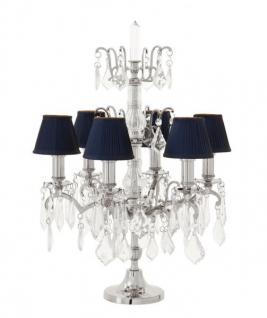 Casa Padrino Luxus Tischleuchte Nickel Durchmesser 40 x H 66, 5 cm - Luxus Hotel Leuchte