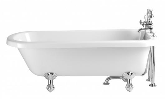 Casa Padrino Jugendstil Badewanne freistehend Weiß Modell He-Per 1660mm - Freistehende Retro Antik Badewanne Barock