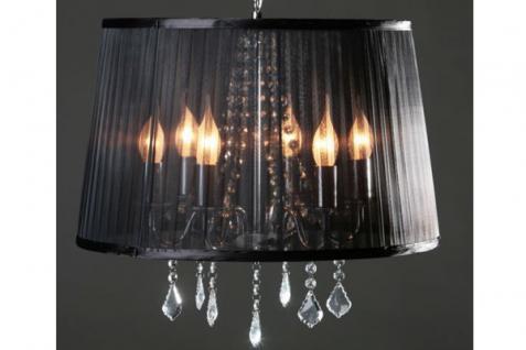 barock pendelleuchte mit kristall deco 5 flammig schwarz leuchte lampe kaufen bei demotex gmbh. Black Bedroom Furniture Sets. Home Design Ideas