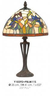 Tiffany Tischleuchte Durchmesser 25cm, Höhe 41cm Y10392 + PBLM11S Leuchte Lampe