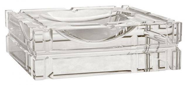Casa Padrino Luxus Kristall Glas Aschenbecher Luxury Edition 21 x 21 cm