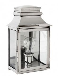 Casa Padrino Luxus Wandleuchte Nickel Durchmesser 22 x 14 x H 37 cm - Luxury Collection