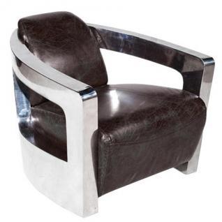 Art Deco Vintage Echt Leder Sessel Echt Leder - Club Sessel - Lounge Sessel