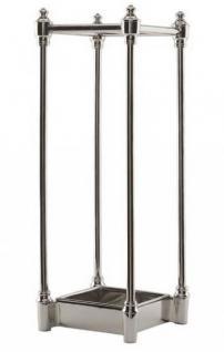 Casa Padrino Luxus Schirmständer Nickel Finish - Luxus Kollektion