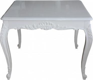 casa padrino barock esstisch weiss 100 cm x 90 cm esszimmer tisch kaufen bei demotex gmbh. Black Bedroom Furniture Sets. Home Design Ideas