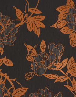 Graham & Brown Barock Vlies Tapete Steve Leung 31-608 Blumen Grau Orange
