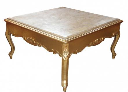 Casa padrino barock couchtisch gold mit marmorplatte 80 x 80 cm antik stil kaufen bei demotex - Couchtisch mit marmorplatte ...