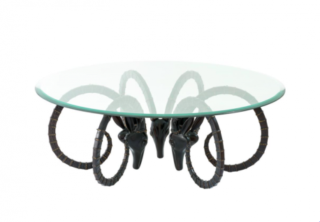 Casa Padrino Art Deco Luxus Couchtisch Bronze Finish - Wohnzimmer Salon Tisch - Designer Tisch Möbel