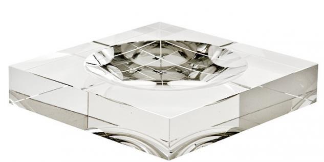 Casa Padrino Luxus Kristall Glas Aschenbecher Luxury Edition 20 x 20 cm ModA2