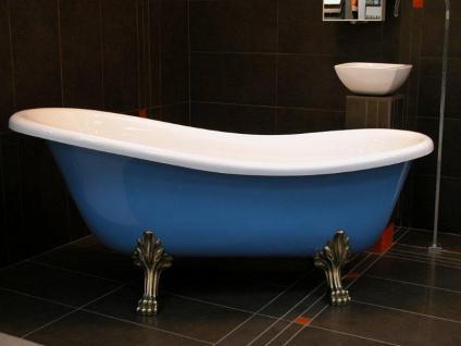 freistehende luxus badewanne jugendstil roma hellblau wei. Black Bedroom Furniture Sets. Home Design Ideas