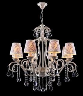Casa Padrino Barock Kristall Decken Kronleuchter Cream Gold 82 x H 82 cm Antik Stil - Möbel Lüster Leuchter Hängeleuchte Hängelampe