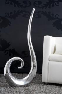 Designer Vase aus poliertem Aluminium silber Höhe: 106 cm, Breite: 49 cm - Moderne Vase, Deko Vase