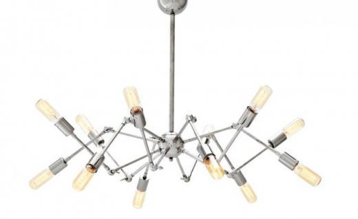 Casa Padrino Luxus Leuchte - Luxus Hängeleuchte Nickel Durchmesser 135 H 55 cm