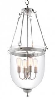 Casa Padrino Luxus Laterne - Luxus Nickel Hängeleuchte Durchmesser 50 x H 100 cm