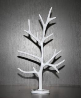 Großer Designer Schmuckbaum Aluminium Mod2 Weiss von Casa Padrino - Alu Dekoration Schmuckständer Schmuckhalter - Schmuck Baum