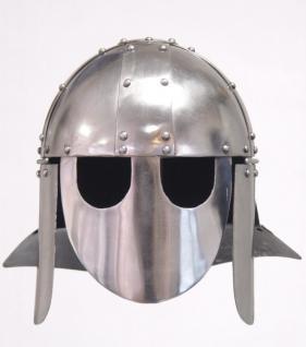 Ritter Spangenhelm - Metall Helm Schutzhelm Ritterhelm Ritterausrüstung Larp Rollenspieler Mittelalter Altertum