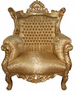 "Casa Padrino Barock Sessel "" Al Capone"" Gold Muster / Gold Möbel- Antik Stil"