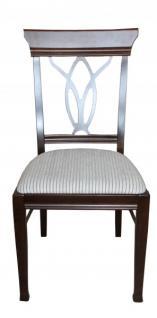 Casa Padrino Biedermeier Esszimmer Stuhl ohne Armlehne Beige / Braun - Möbel Restaurant Hotel Gastronomie Bestuhlung