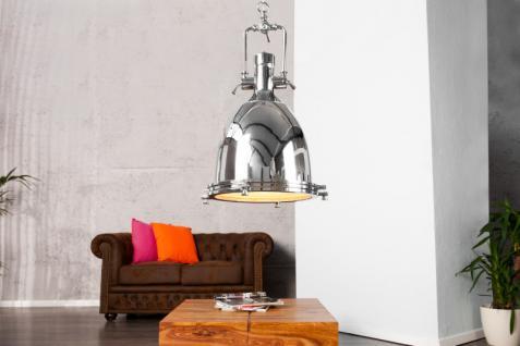 Casa Padrino Industrial Hängeleuchte Chrom 35 x 50 x 35 cm - Industrie Design Vintage Lampe Leuchte