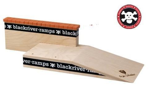 Blackriver Fingerboard Ramp Mike Schneider III Brick Ledge - Black River Holz Rampe Blackriver Ramps