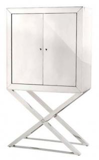 Casa Padrino Designer Edelstahl Schrank Silber - Luxus Wohnzimmer Möbel