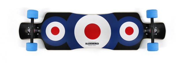 Hammond Complete Longboard Drop Through Komplettboard Free Ride Star - Dropthrough Profi Longboard mit Koston Kugellagern