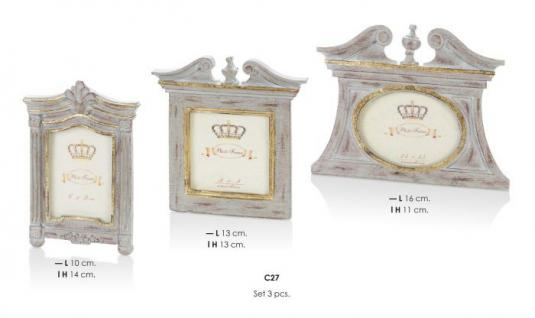 Casa Padrino Barock Bilderrahmen Set Antik Look 14 x 10 cm, 13 x 13 cm, 16 x 11 cm - Bilder Rahmen Foto Rahmen Jugendstil Antik Stil Shabby Chic