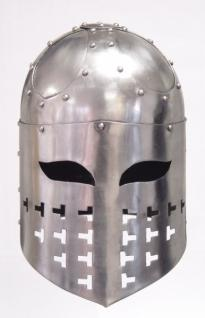 Ritter Crusaders Helm - Metall Helm Schutzhelm Ritterhelm Ritterausrüstung Larp Rollenspieler Spangenhelm Mittelalter Altertum