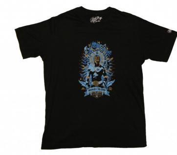 Pirate Service Skateboard T-Shirt Mosh Champ Black/Blue