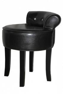 casa padrino designer hocker boston schwarz schwarz mit bling bling steinen barock. Black Bedroom Furniture Sets. Home Design Ideas