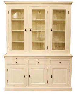 Großer Shabby Chic Landhaus Stil Schrank mit 4 Türen und 3 Schubladen - Buffetschrank - Schrank Esszimmer