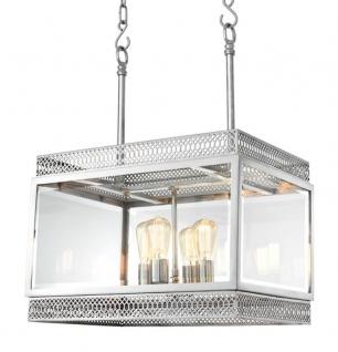Casa Padrino Luxus Kronleuchter Silber 60 x 42 x H. 84 cm - Hotel Restaurant Möbel