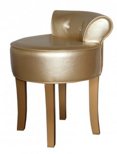 casa padrino designer hocker boston gold gold mit bling bling steinen barock schminktisch. Black Bedroom Furniture Sets. Home Design Ideas