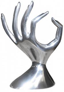Casa Padrino Designer Schmuckhand Schmuckbaum Aluminium Mod4 Alu Dekoration Schmuckständer Schmuckhalter - Schmuck Hand Baum