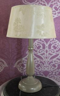 Casa Padrino Barock Tischleuchte Elegant und Edel Grau/Creme 43 x 24.5 cm